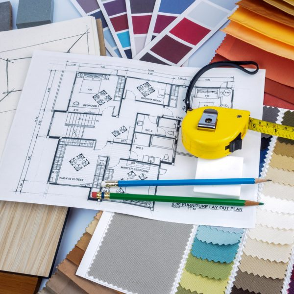 Home interior decoration and renovation planning concept